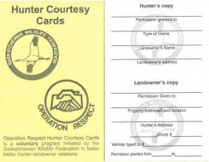 Hunter Courtesy Cards