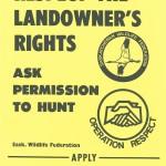 Respect Landowner Rights